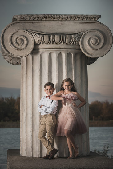 Family Portrait Session at University at Buffalo Baird Point