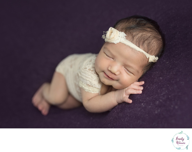 smiling newborn photo- Culver City, CA