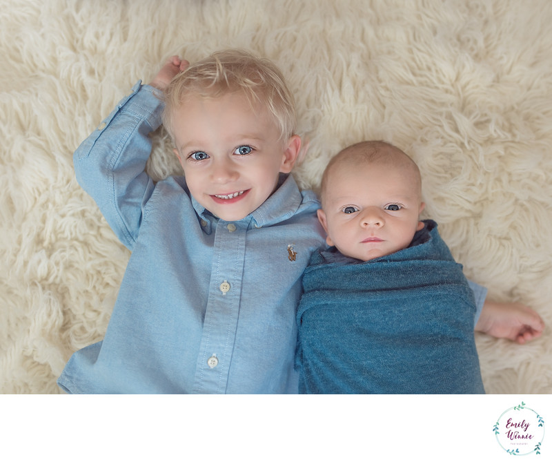 Brothers-Newborn photo session-Culver City, CA