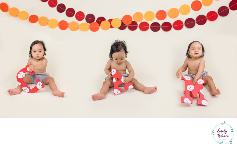 One-year photo collage-Culver City Milestone session