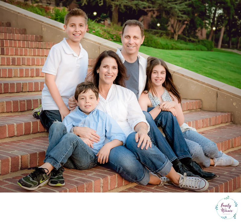 Family on Janss Steps- UCLA Photo session