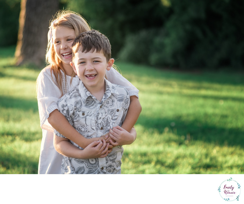 Brother and Sister-Family photo session-Cheviot Hills
