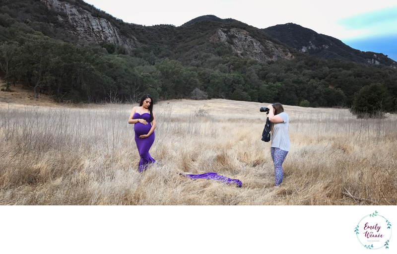 Behind the Scenes, Malibu Maternity session