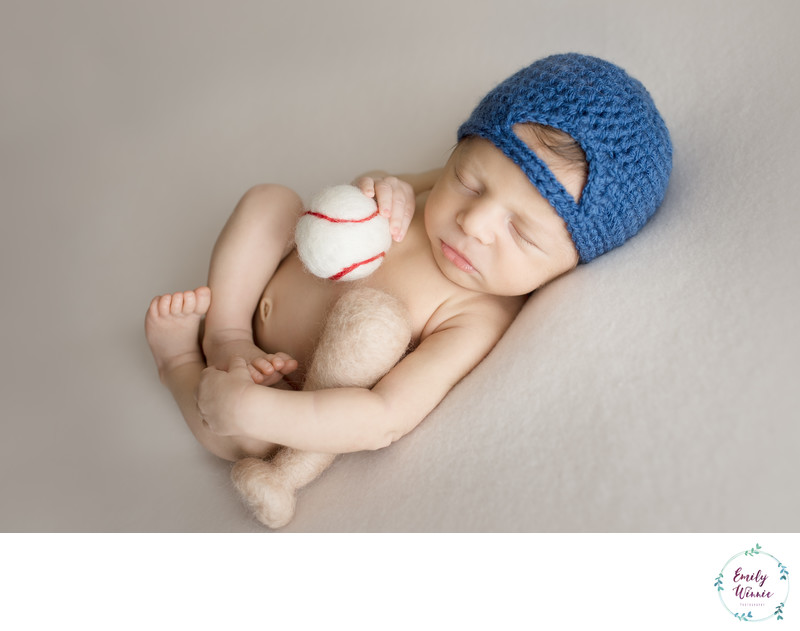 Emily Winnie Photography- Baby with Baseball