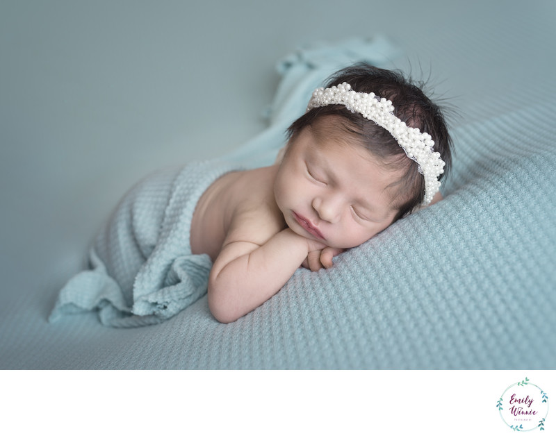 Emily Winnie Photography-Baby in Pearl Crown