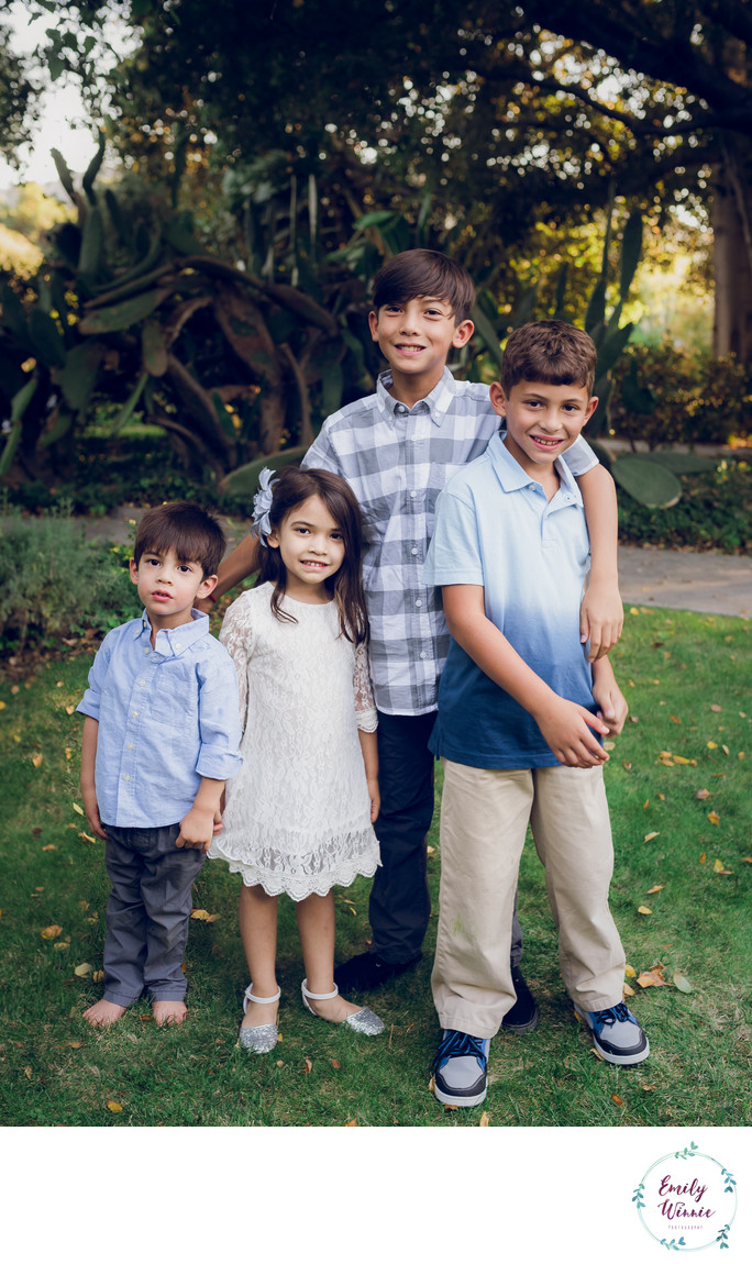 Four siblings- Pasadena Family photography session