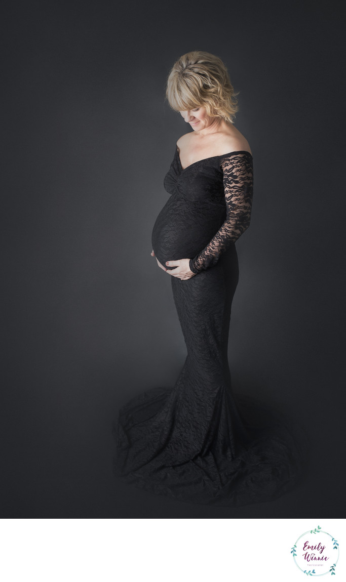 Emily Winnie Photography- Expectant Mother in Black
