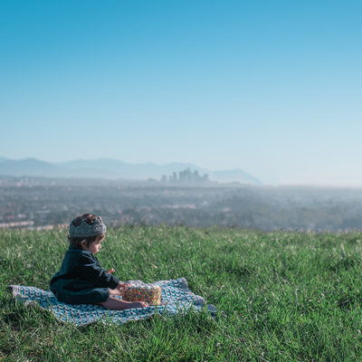 Birthday cake smash photos-Baldwin Hills Scenic Overlook