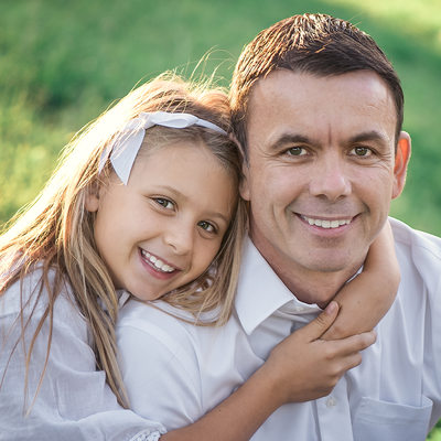 Father and Daughter- Cheviot Hills family photo session