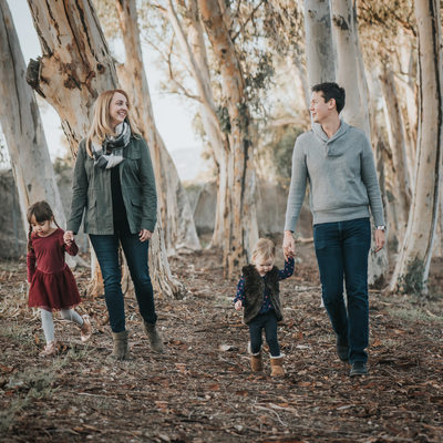 Family photo amongst trees-Culver City, CA