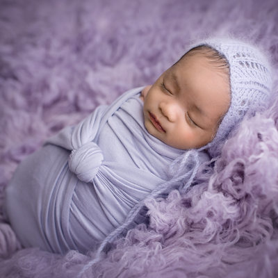 Emily Winnie Photography- Baby in Lavender