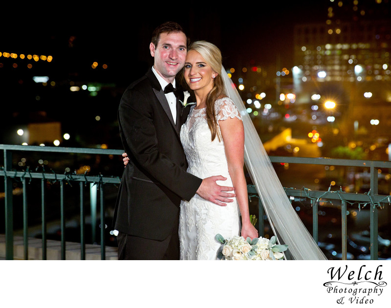 Bride and Groom Portrait New Orleans Riverview Room