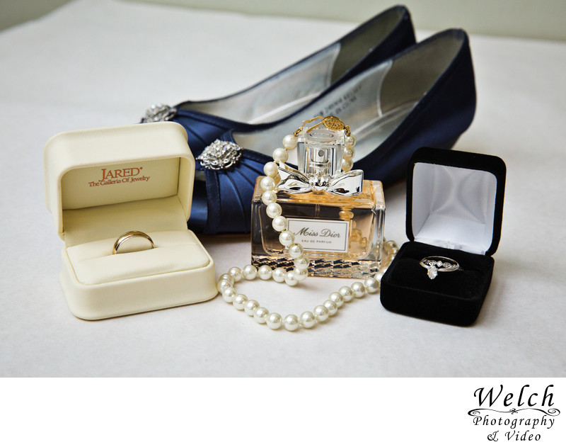 Wedding rings jewelry shoes perfume