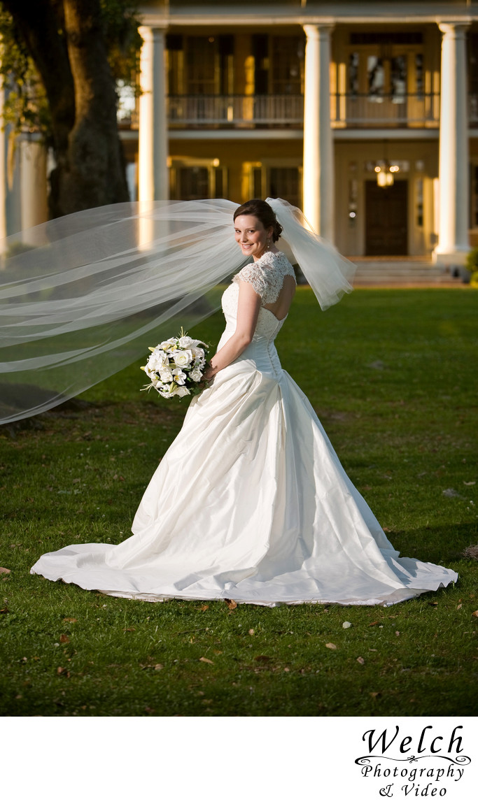 Bridal portrait Houmas House Plantation Louisiana