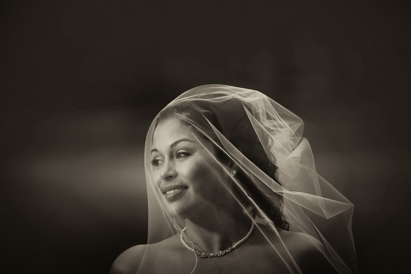 Dramatic bridal photography