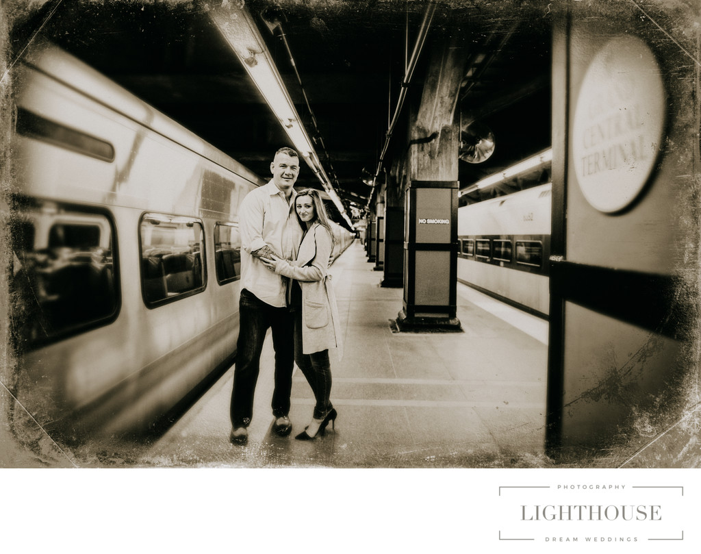 subway wedding photography