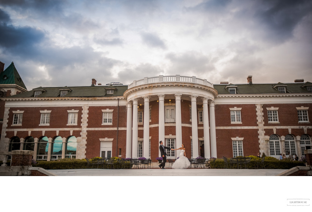 Bourne Mansion wedding photos
