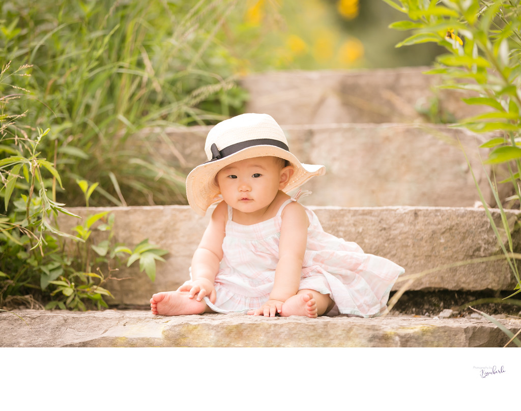 Baby S with floppy hat