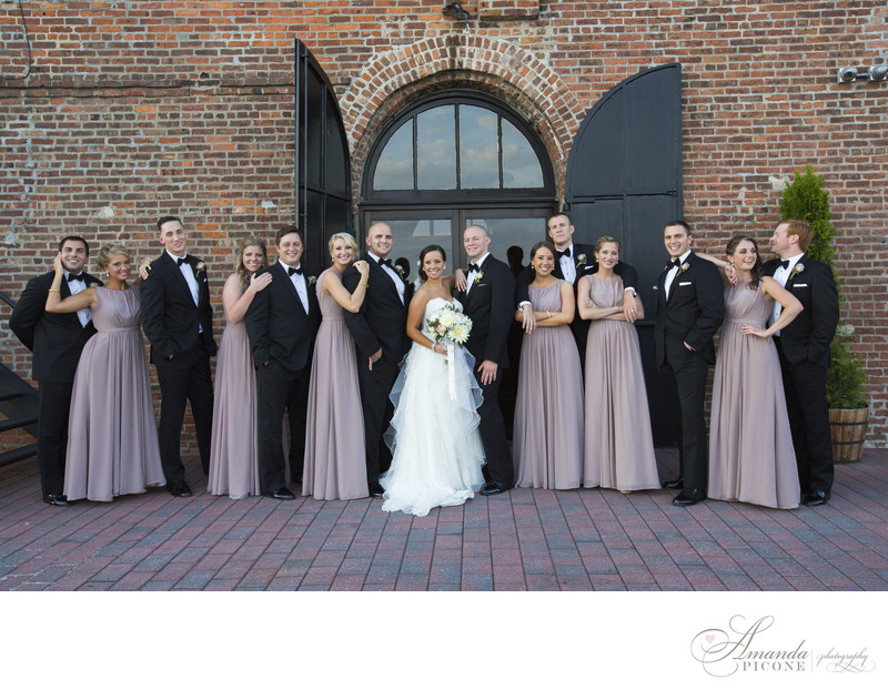Wedding party at Liberty Warehouse in Brooklyn New York