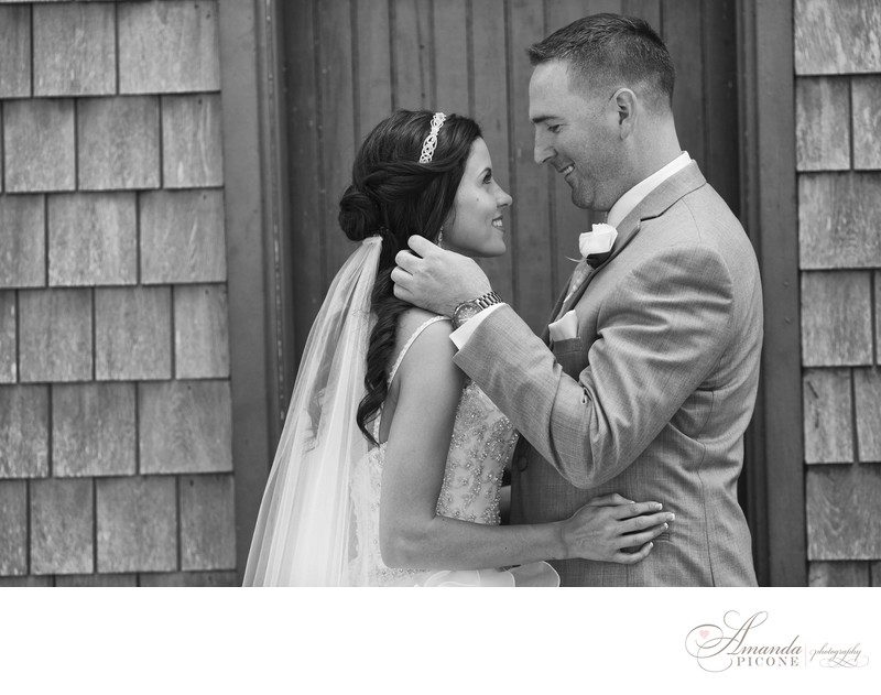 Bride and groom at Bayard Cutting Arboretum Long Island