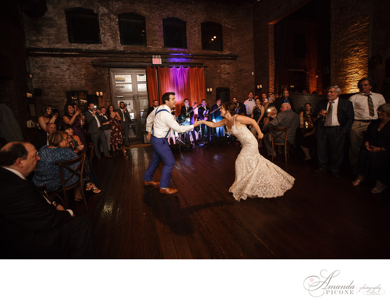 Wedding reception first dance at MyMoon Brooklyn New York