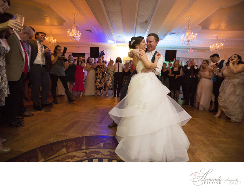 Bride and groom first dance at The Carltun Long Island