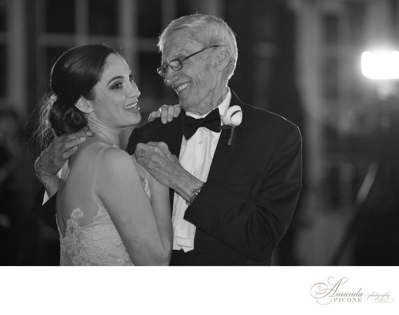 Bride dances with dad at Central Park Loeb Boathouse