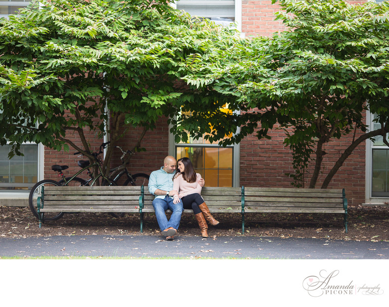 New Jersey College Engagement Photos in Fall