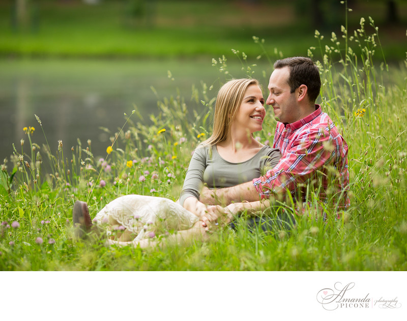 Esopus NY Summer Engagement Photos at Lake