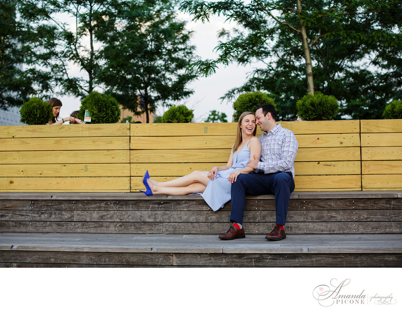 Gantry Plaza Park Long Island City Engagement Photos NYC