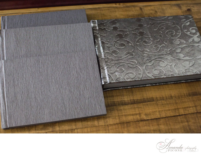 Silver wedding albums Long Island NYC Photographer