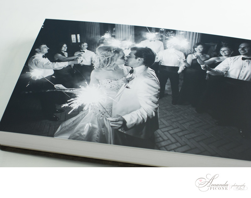Sparklers at Bourne Mansion Long Island Wedding Photograph