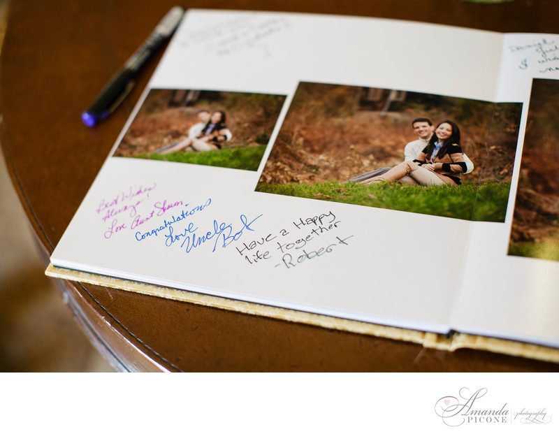 Guest sign in book from Long Island New York Wedding