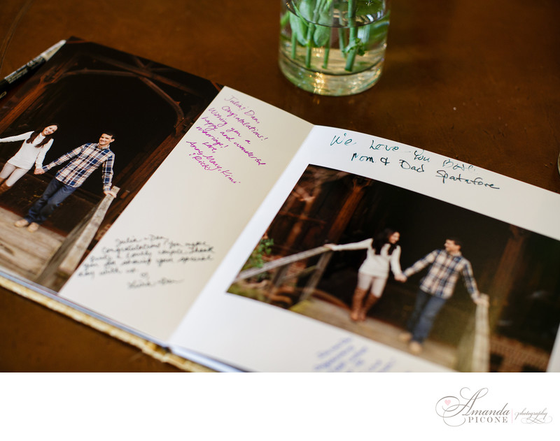 Long Island wedding engagement guest book photography