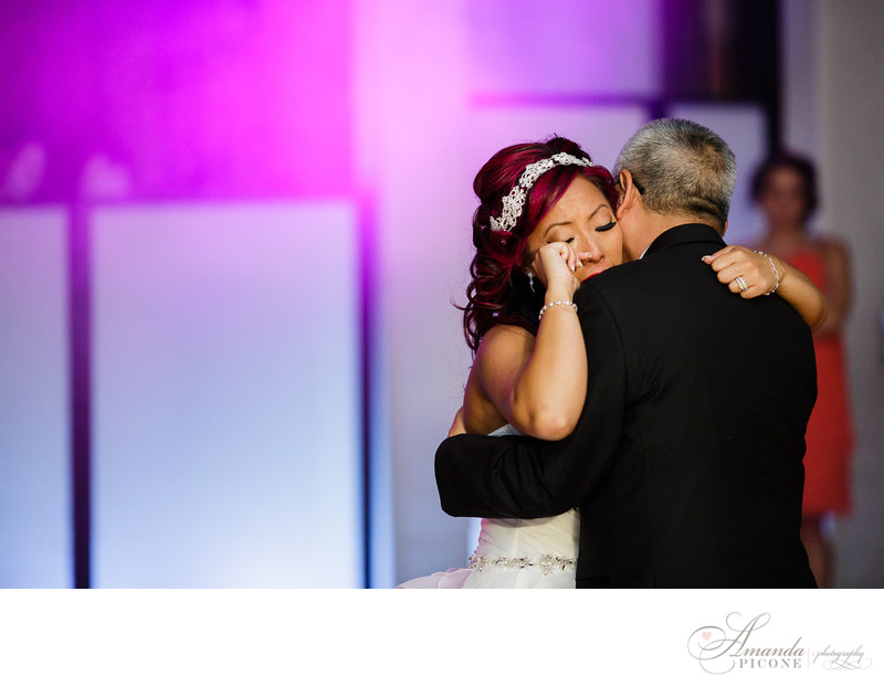 Bride cries during dance with father at NJ Wedding