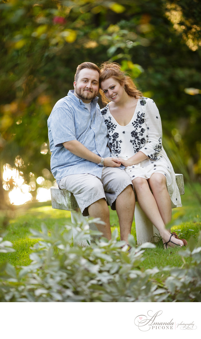 Long Island NY Engagement Photography summer in park