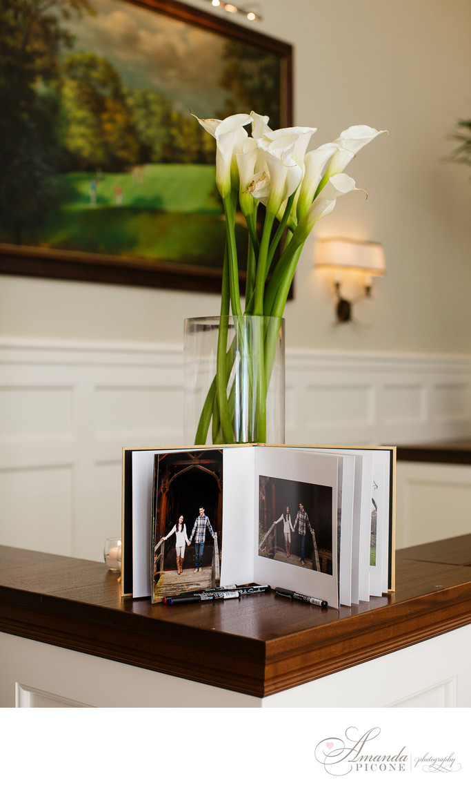Long Island Wedding Photographer Album Sign in Book