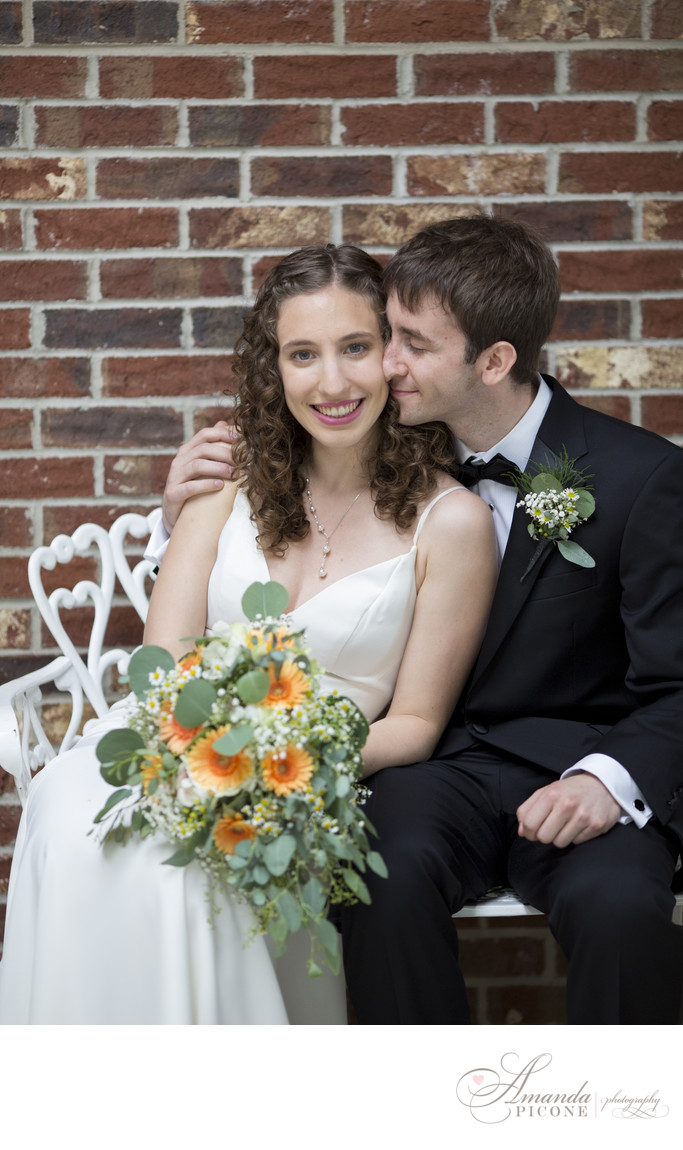 Bride and groom at Estate at East Wind Long Island