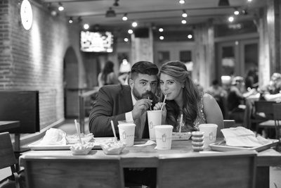 Shake Shack Brooklyn Engagement Photos NYC
