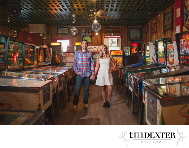 Awesome Engagement Photo in Manitou Arcade