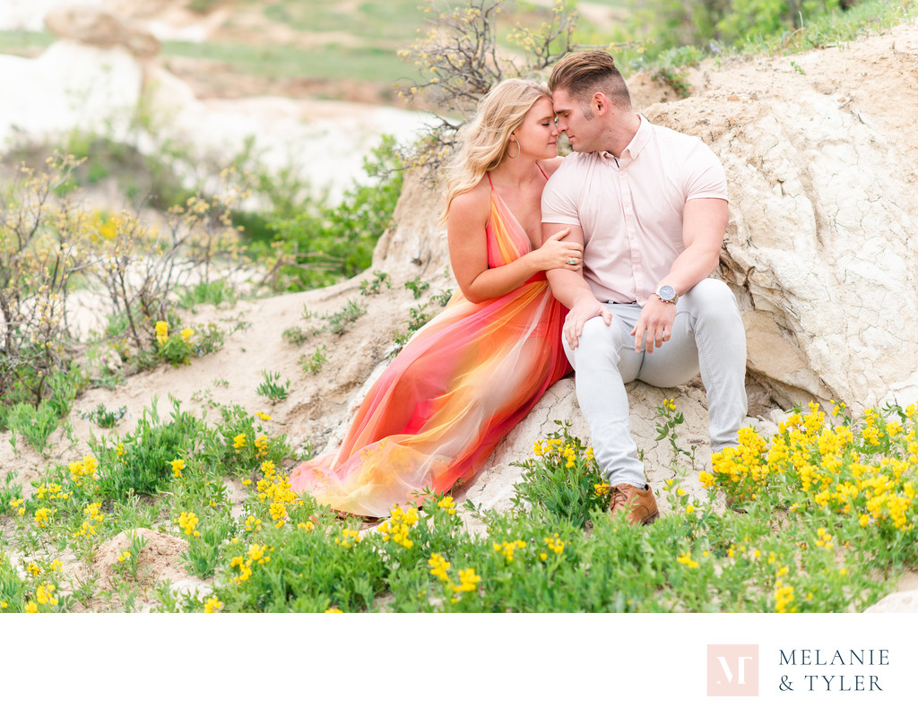 Paint Mines Engagement Photos