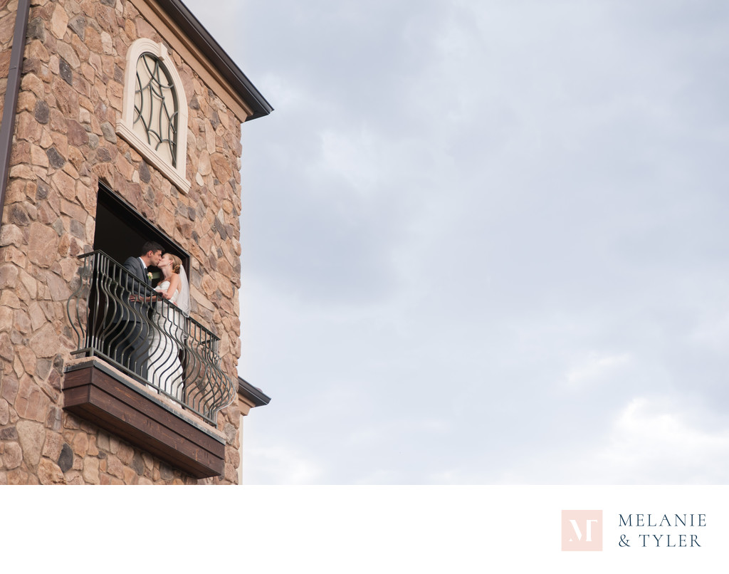 Wedding Portrait in Tower at Pinery at the Hill
