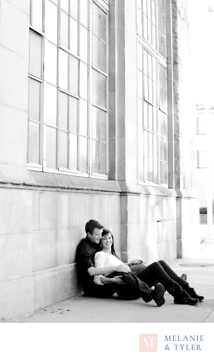 Downtown Colorado Springs Engagement Photo