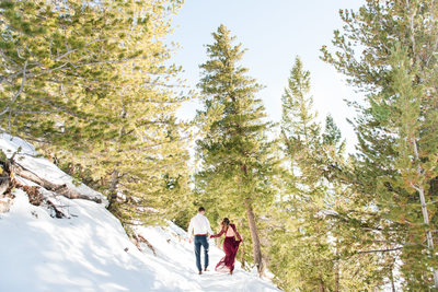 Snowy Breckenridge Engagement Session