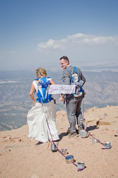 Pikes Peak Summit Wedding Photo