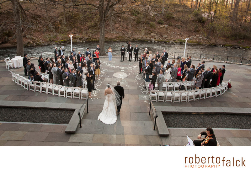 new york wedding photographer botanical garden ceremony