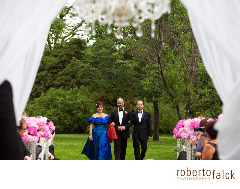 brooklyn botanical garden wedding ceremony