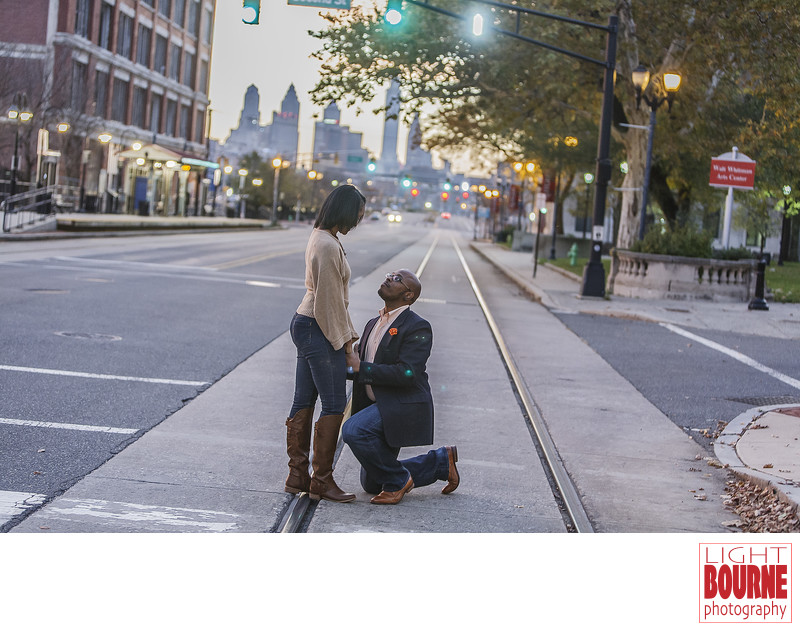 Camden New Jersey Engagement Session - Cooper Street