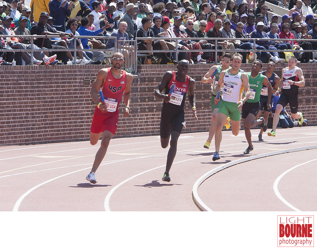 USA Men Track and Field Team at the Penn Relays