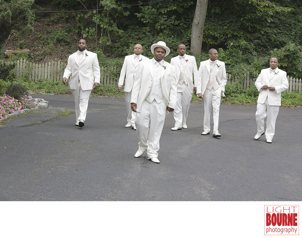 Groomsmen at The Marian House